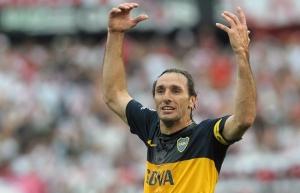 """El """"Flaco"""" se retira en Boca y después se meterá de lleno en Godoy Cruz (Télam)."""