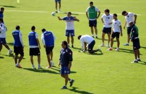 El entrenamiento de San Lorenzo (Foto: Télam)